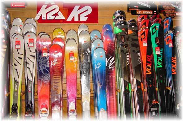Alpine and Cross-Country Skis